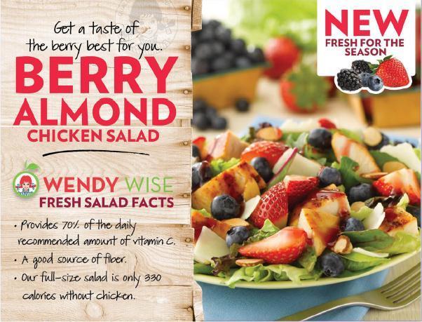 Wendys Menu Salads A Wendy's Giveaway tha...