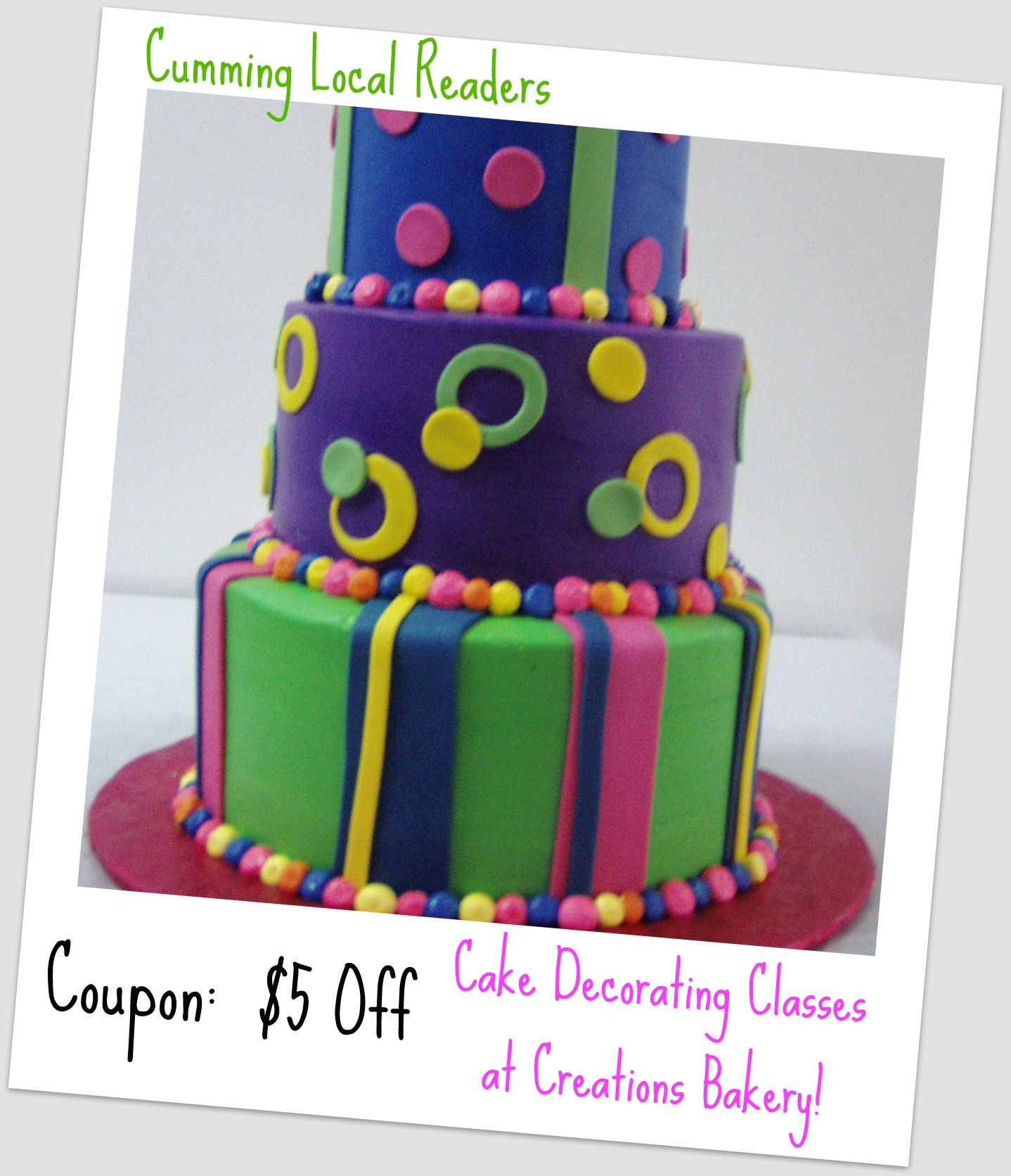 Cake Decorating Store Voucher Codes : Birthday Giveaway: Creations Bakery - Cumming Local ...