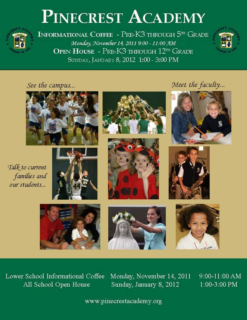 Pinecrest Academy Informational Coffee & Open House