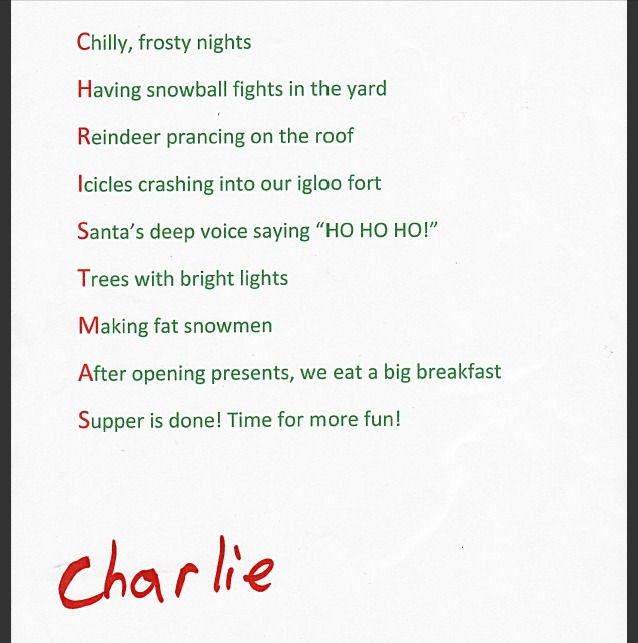 Christmas Thank You Poems Thank you charlie! i agree
