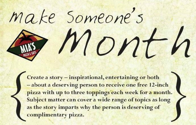 Mia's Announces:  Make Someone's Month