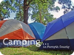 Camping in Forsyth County