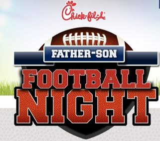 Chickfila Father Son Football Night
