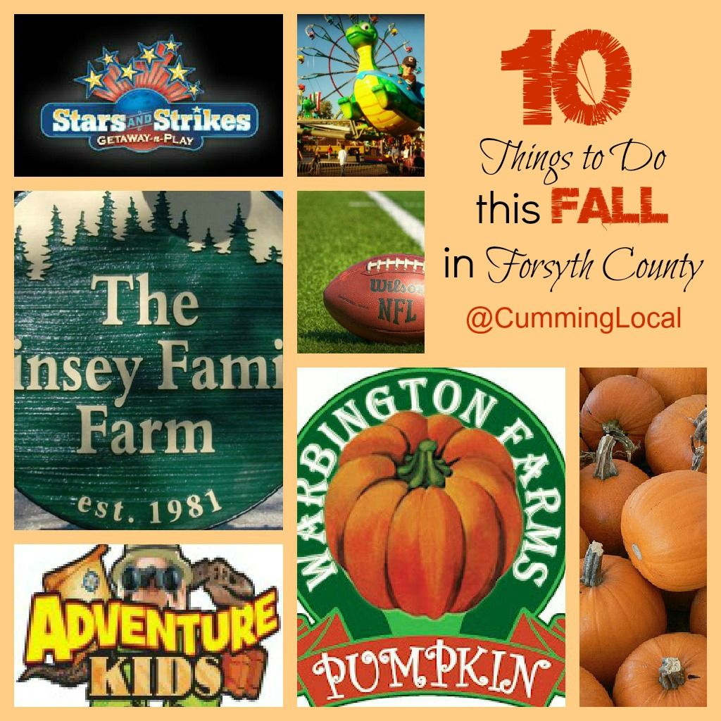Top 10 Things to Do this Fall in Forsyth County | Fall Fun Activities in Forsyth County