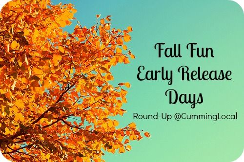 Fall Fun in Forsyth County_Early Release Days
