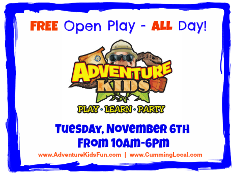 Adventure Kids_FREE Play in Cumming GA & Forsyth County