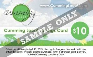 Cumming Local Savings Card