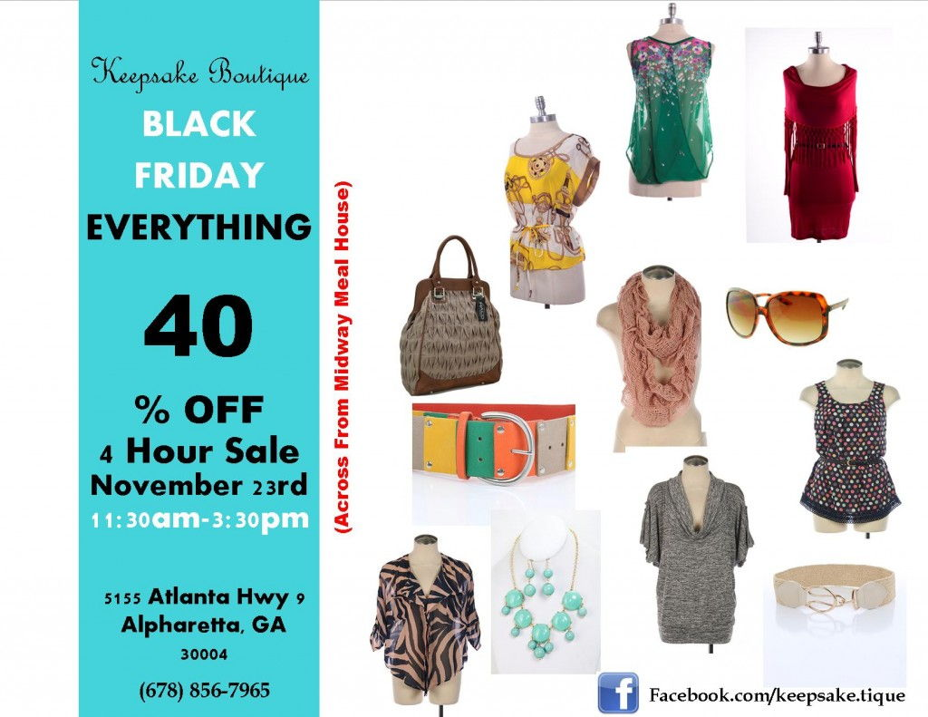 Keepsake Boutique Black Friday Sale