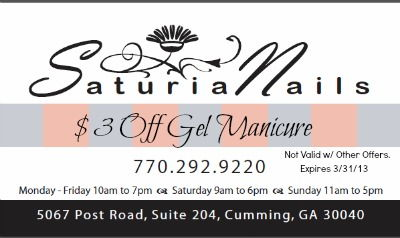 Saturia Nails in Cumming GA & Forsyth County