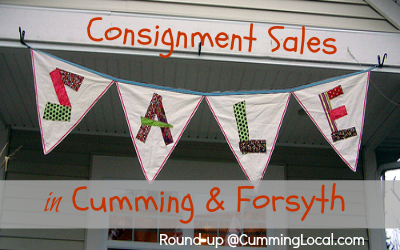 consignment sales in cumming and forsyth