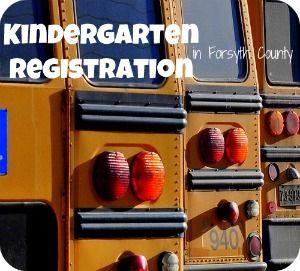 Kindergarten Roundup Registration in Forsyth County