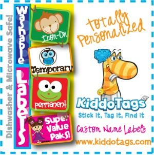KiddoTags Summer Camp Labels