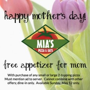 Mother's Day Coupon from Mias
