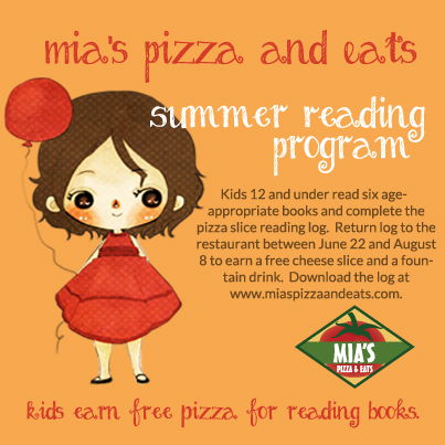 Summer Reading Program at Mia's Pizza & Eats