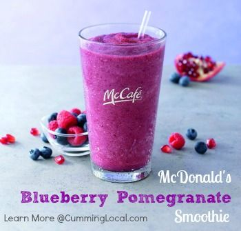 McDonald's Blueberry Pomegranate Smoothie:  A summertime treat & giveaway