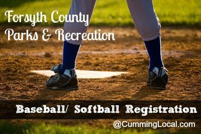 Register for Youth Baseball & Softball in Forsyth County