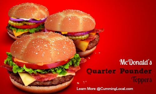 McDonald's New Quarter Pounder Toppings {and a giveaway}