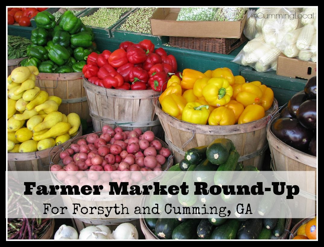 Farmer Markets in Cumming GA & Forsyth County