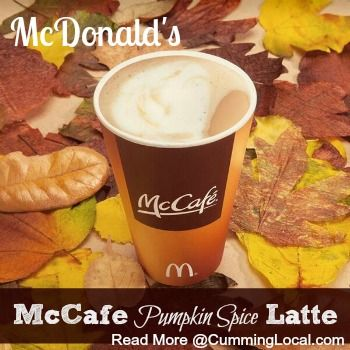 McDonald's McCafe Pumpkin Spice Latte {and a giveaway}