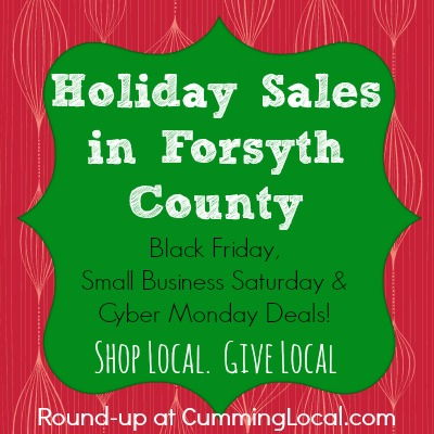 Holiday Sales in Forsyth County:  Black Friday,Small Business Saturday & Cyber Monday