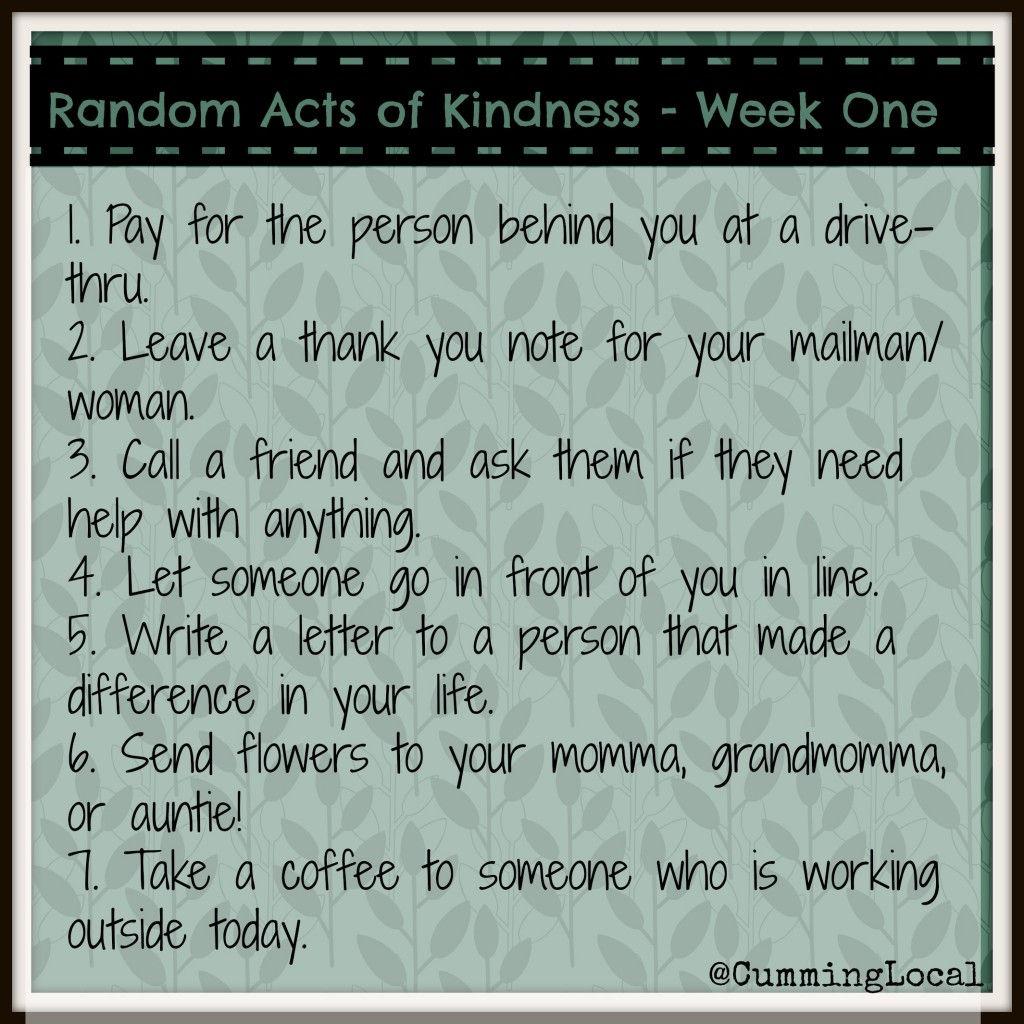RandomActsOfKindness-WeekOne
