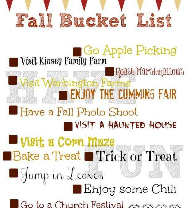 Things to Do in Cumming GA Fall 2014