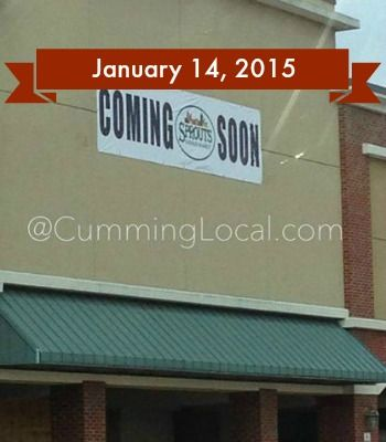 Sprouts Cumming GA Opening January 14