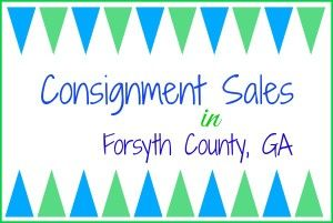Consignment Sales in Forsyth County 2015