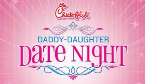 Daddy Daughter Date Night Chick-fil-A Forsyth County {2018}