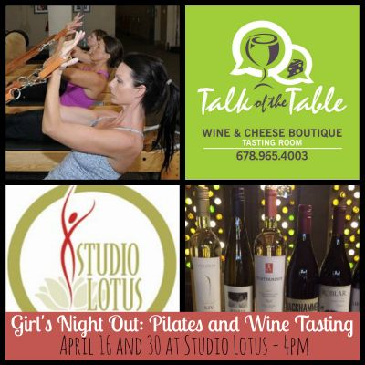 Sponsor Spotlight – Girl's Night Out at Studio Lotus Forsyth with Talk of the Table