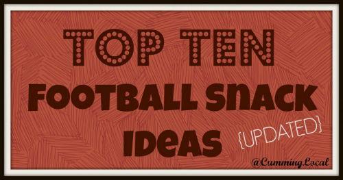 Top Ten Football Snacks Ideas {UPATED}