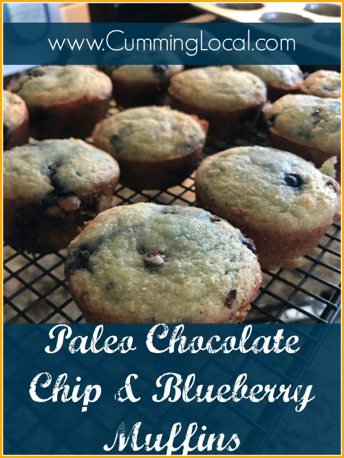 Paleo Chocolate Chip & Blueberry Muffins