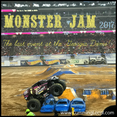 Review of Monster Jam 2017 {The Last Event at GA Dome}