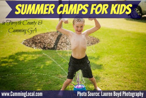 2018 Summer Camps in Forsyth County & Cumming GA