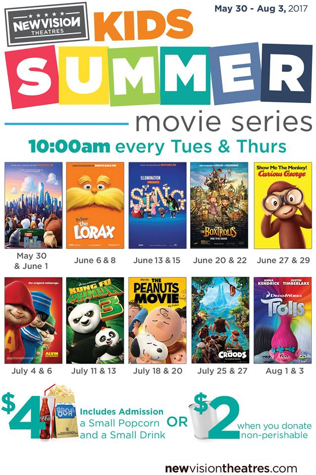 Summer Movies for Kids at Movies 400 {2017}