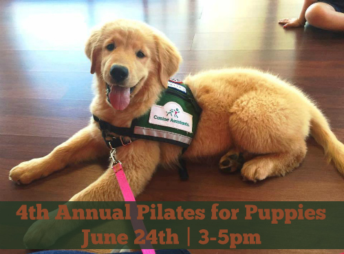 4th Annual Pilates for Puppies Event on June 24 2017