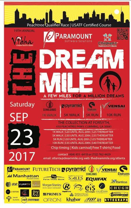 The Dream Mile- Peachtree Qualifier Race @ The Collection at Forsyth | Cumming | Georgia | United States