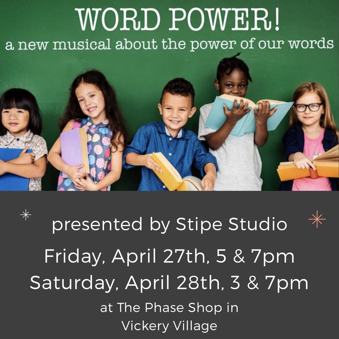 "Local Artist Teams With Stipe Studio To Present ""Word Power"""