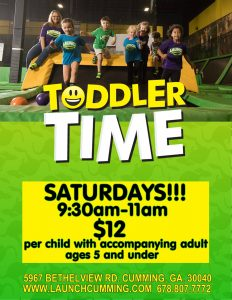 Toddler Time at Launch Trampoline Park @ Launch Trampoline Park | Cumming | Georgia | United States