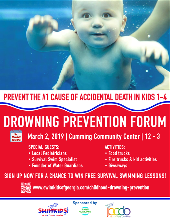 Save The Date: FREE Childhood Drowning Prevention Forum – March 2nd, 2019