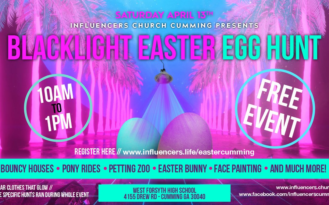Blacklight Easter Egg Hunt and Carnival