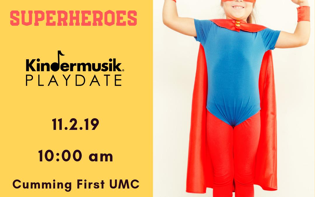Superhero Kindermusik Playdate