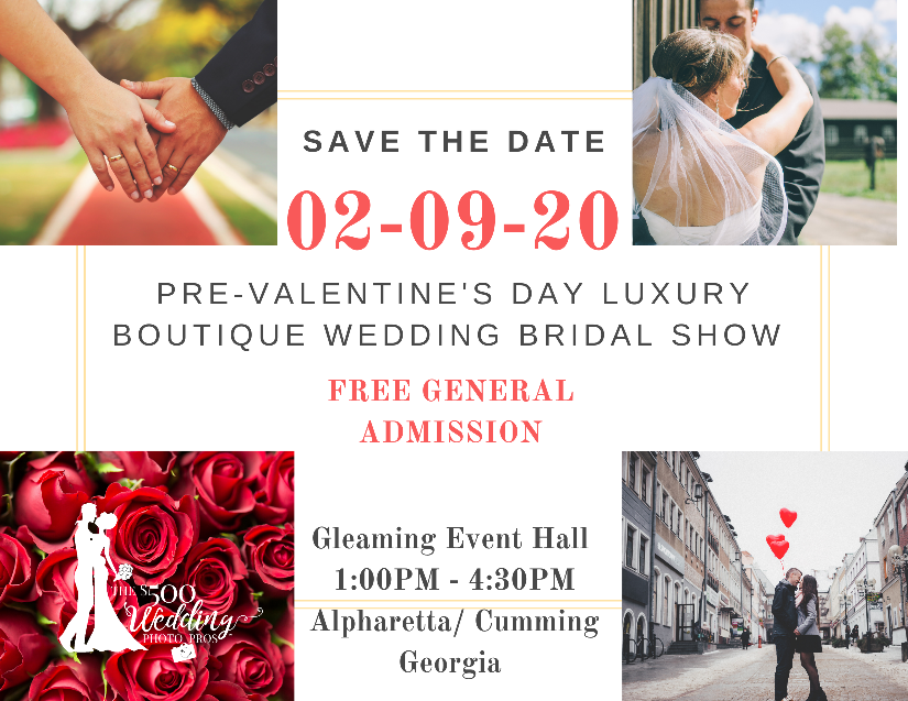 Pre-Valentine's Luxury Boutique Wedding Bridal Show 2020